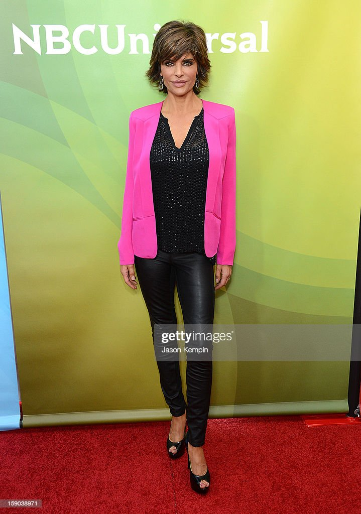 Lisa Rinna attends NBCUniversal's '2013 Winter TCA Tour' Day 1 at Langham Hotel on January 6, 2013 in Pasadena, California.