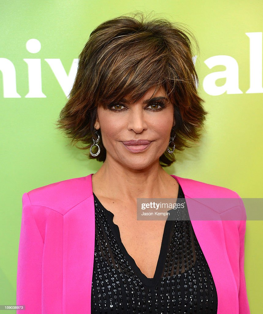 <a gi-track='captionPersonalityLinkClicked' href=/galleries/search?phrase=Lisa+Rinna&family=editorial&specificpeople=202100 ng-click='$event.stopPropagation()'>Lisa Rinna</a> attends NBCUniversal's '2013 Winter TCA Tour' Day 1 at Langham Hotel on January 6, 2013 in Pasadena, California.