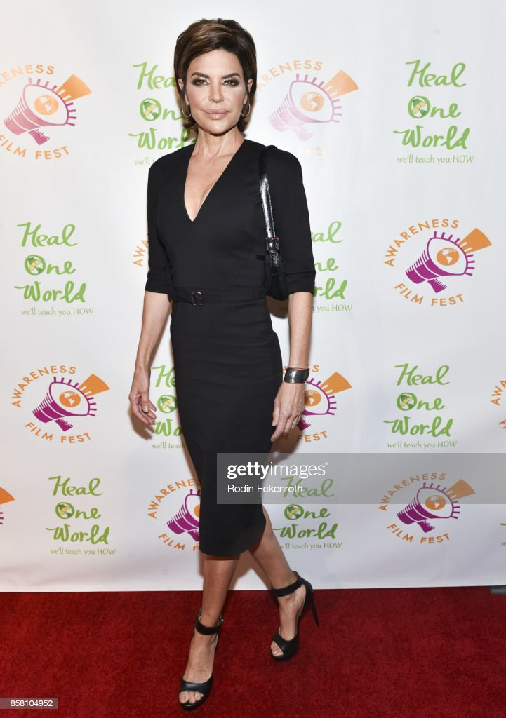 Lisa Rinna attends the 2017 Awareness Film Festival Opening Night Premiere of 'The Road to Yulin and Beyond' at Regal LA Live Stadium 14 on October 5, 2017 in Los Angeles, California.