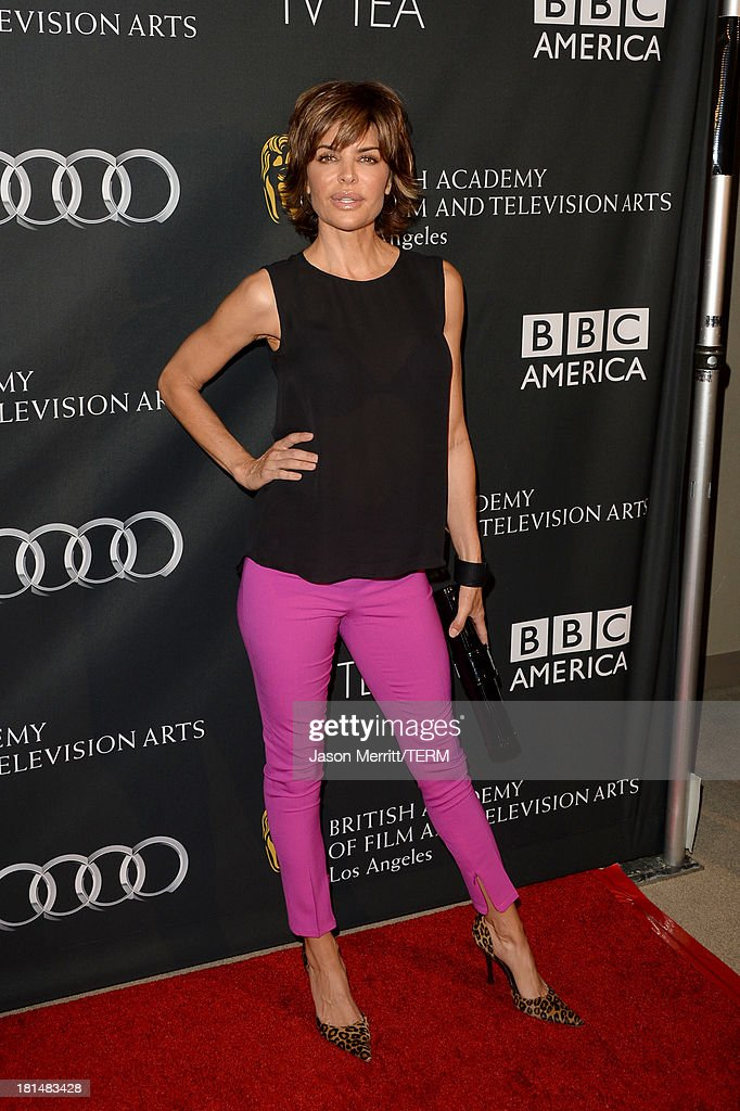 <a gi-track='captionPersonalityLinkClicked' href=/galleries/search?phrase=Lisa+Rinna&family=editorial&specificpeople=202100 ng-click='$event.stopPropagation()'>Lisa Rinna</a> attends the BAFTA LA TV Tea 2013 presented by BBC America and Audi held at the SLS Hotel on September 21, 2013 in Beverly Hills, California.