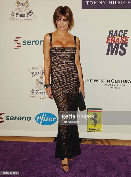 Lisa Rinna during 12th Annual Race to Erase MS Themed 'Rock Royalty to Erase MS' Arrivals at The Westin Century Plaza Hotel Spa in Los Angeles...