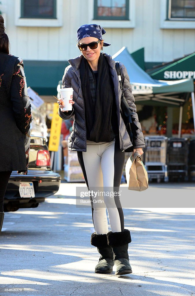 Lisa Rinna is seen Leaving Whole Foods Market on December 09, 2013 in Los Angeles, California.
