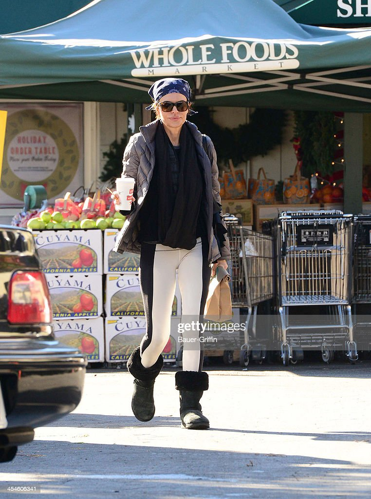 Lisa Rinna is seen Leaving Whole Foods Market on December 09, 2013 in Los Angeles, California.