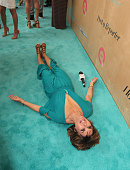 Lisa Rinna matches the carpet at the Ovarian Cancer Research Fund Alliance's 3rd Annual Super Saturday Los Angeles at Barker Hangar on June 11 2016...