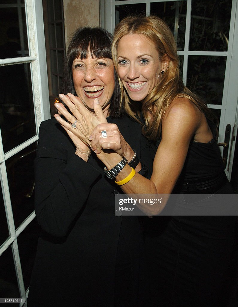 Lisa Robinson and Sheryl Crow during Sheryl Crow 'Wildflower' Release Party Co-Hosted by AOL at Private Residence in New York City, New York, United States.