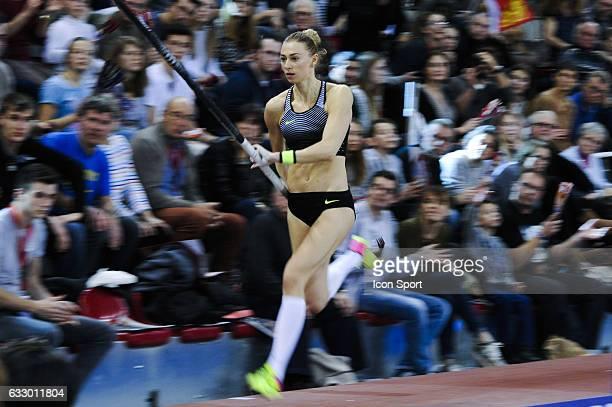 Lisa Ryzih of Germany during the Pole Vault Elite Tour at Kindarena Stadium on January 28 2017 in Rouen France