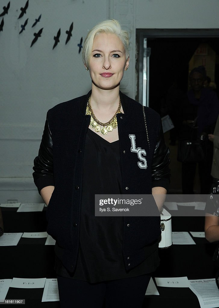 Lisa Salver attends the Michael Bastian fall 2013 fashion show during Mercedes-Benz Fashion Week on February 12, 2013 in New York City.