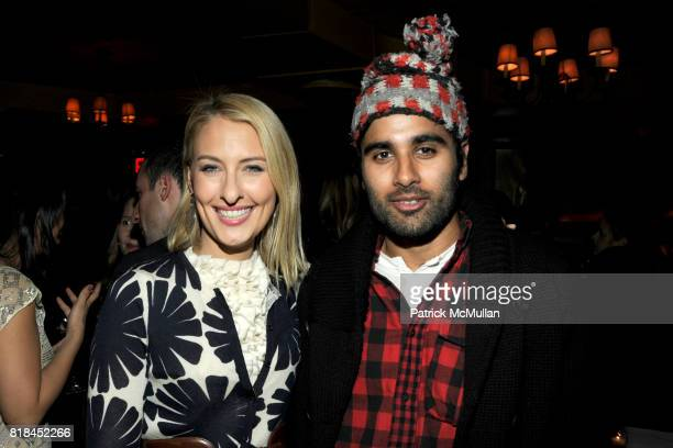 Lisa Salzer and Neel Shah attend Cocktails to Welcome ALEXIS BRYAN MORGAN as the New Fashion Director of ELLE Magazine at Minetta Tavern on January...