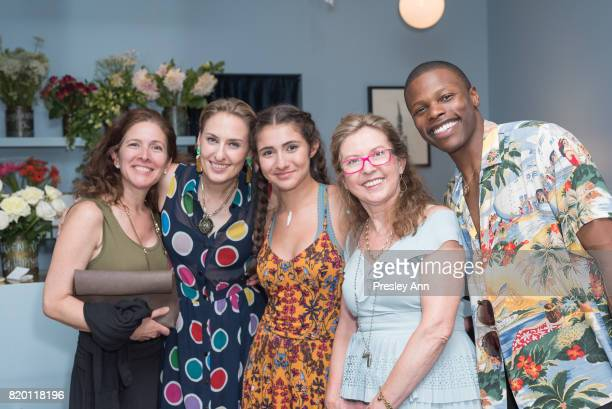 Lisa SalzerWiles and Marlon TaylorWiles attend Lulu Frost Opening Celebration at Lulu Frost on July 20 2017 in New York City