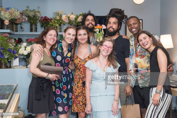 Lisa SalzerWiles Clayton Griggs Chris Griggs Marlon TaylorWiles and Sandra Meryl attend Lulu Frost Opening Celebration at Lulu Frost on July 20 2017...