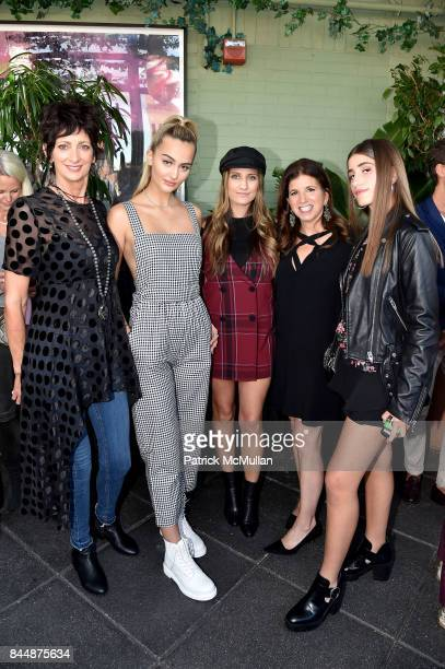 Lisa Schreiber Suede Brooks Bri Tomaselli Amy Shecter and Mikayla Kits attend the Nicole Miller Spring 2018 Presentation at Gramercy Terrace at The...