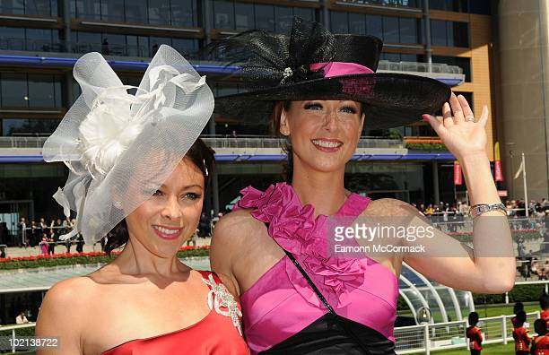 Lisa ScottLee and Faye Tozer attend Royal Ascot at Ascot Racecourse on June 16 2010 in Ascot England