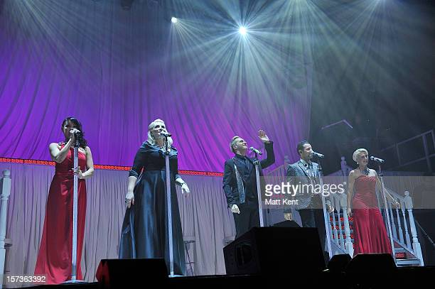 Lisa ScottLee Claire Richards Ian 'H' Watkins Lee LatchfordEvans and Faye Tozer of Steps perform at London Palladium on December 2 2012 in London...