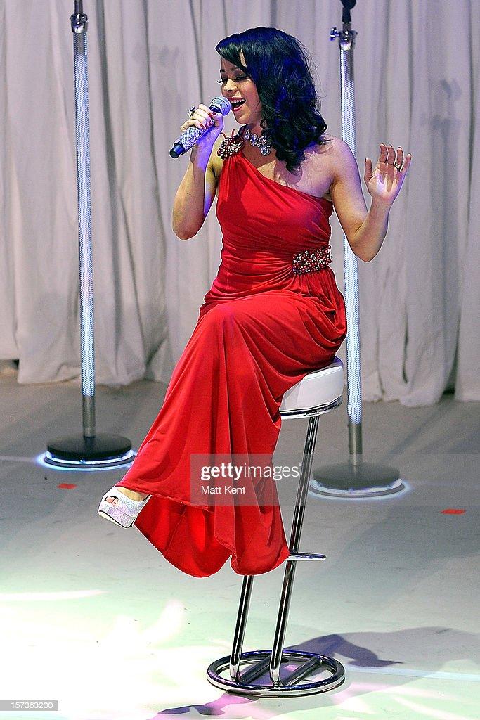 Lisa Scott-Lee of Steps performs at London Palladium on December 2, 2012 in London, England.
