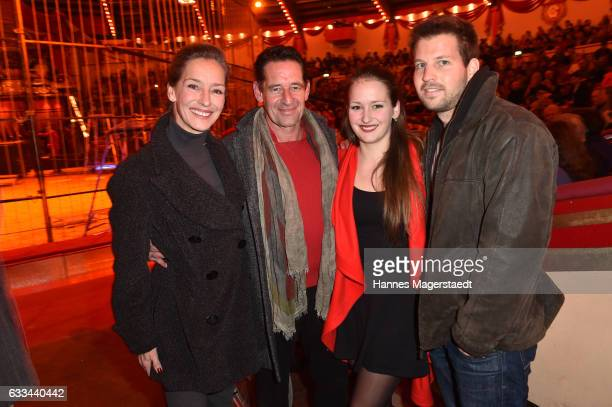 Lisa Seitz Max Tidof daughter Luzie Seitz and her boyfriend Stefan during the 'AllezHopp' premiere at Circus Krone on February 1 2017 in Munich...