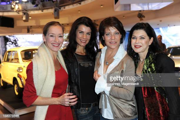 Lisa Seitz Nicola Tiggeler Janina Hartwig and Anja Kruse attend the BMW Adventskalender opening with Anja Kruse at the BMW Pavillon on December 14...