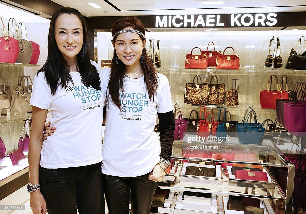 Lisa Selesner and Venessa Yeung attend Michael Kors World Food Day - Hong Kong at on October 16, 2013.