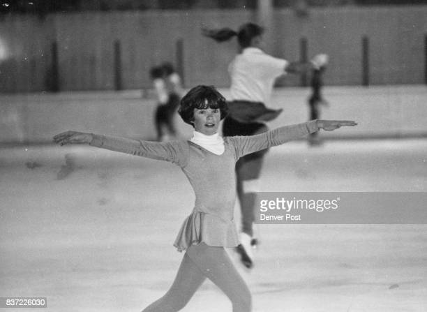 Lisa Shaw shows her from at the ice rink Olympic competition is her big goal but she's realistic about it Credit The Denver Post