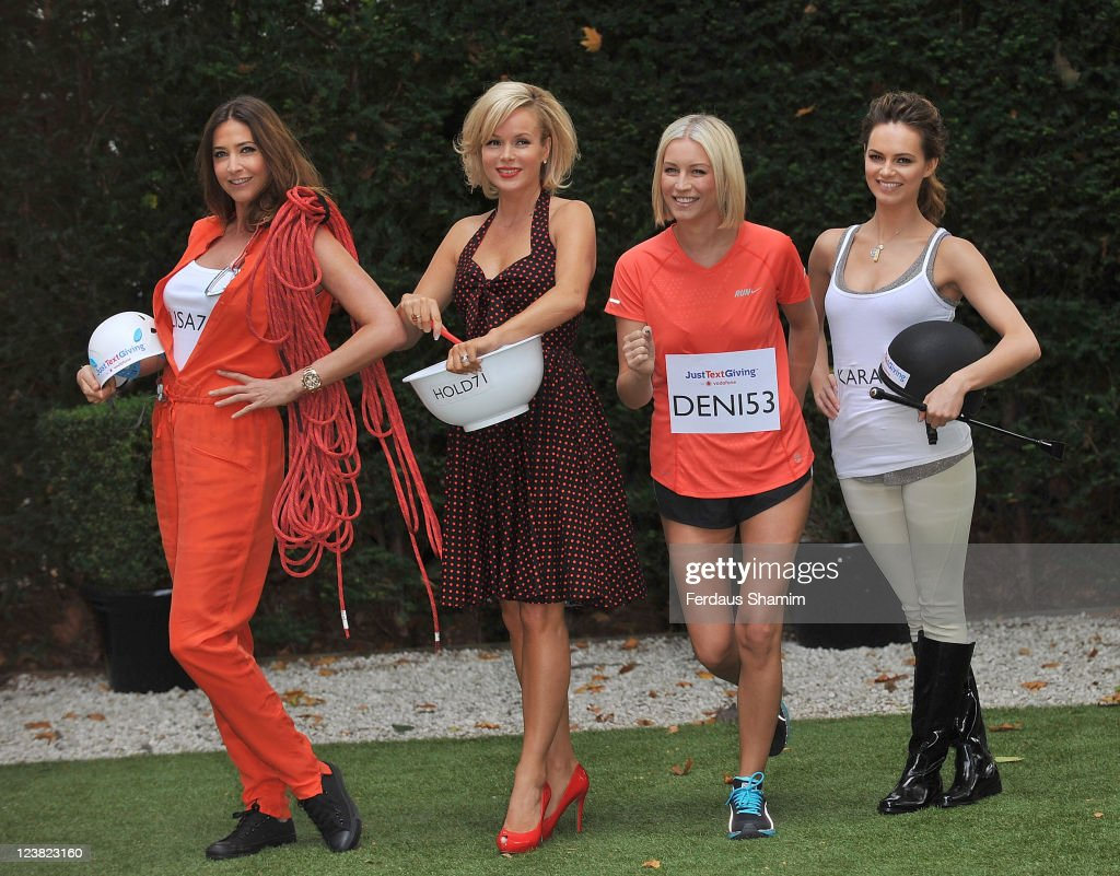 Lisa Snowdon Amanda Holden Denise Van Outen and Kara Tointon launch Vodafone JustTextGiving Charity Challenges at The Hempel Hotel on September 5...