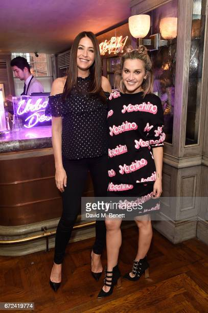 Lisa Snowdon and Ashley Roberts attend the VIP dinner to celebrate Urban Decay's arrival at Selfridges London on April 24 2017 in London England