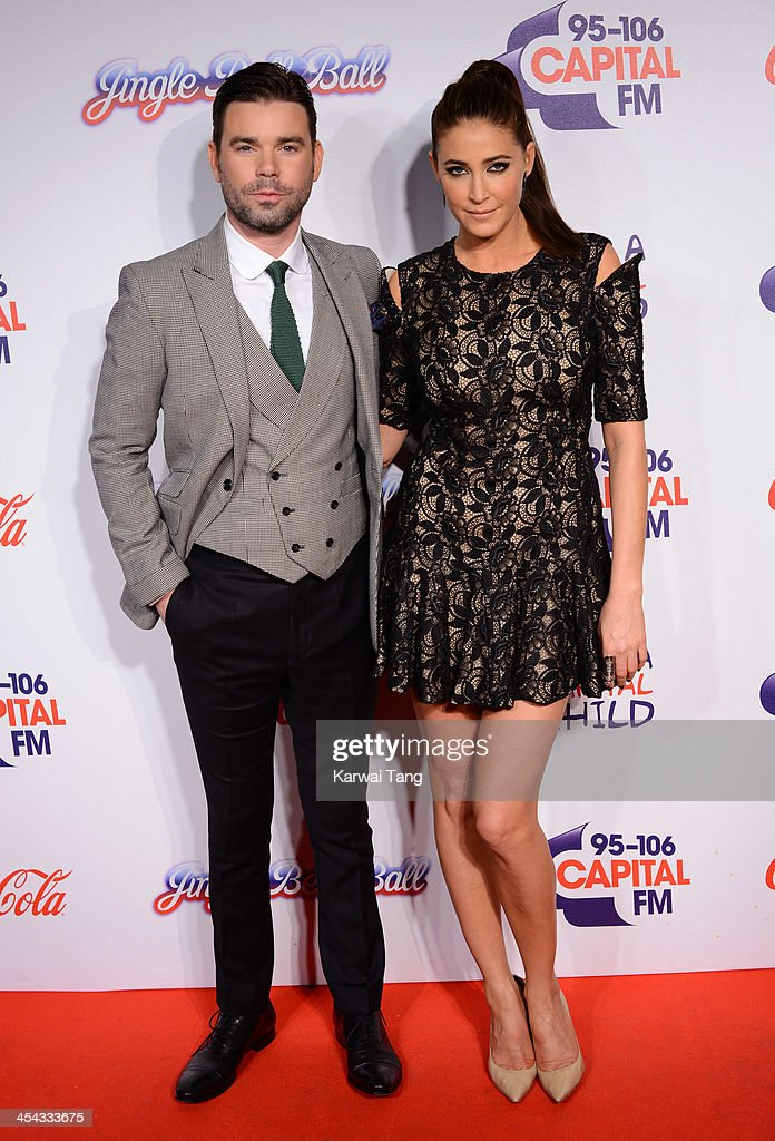 Lisa Snowdon and Dave Berry attend on day 2 of the Capital FM Jingle Bell Ball at the 02 Arena on December 8, 2013 in London, England.