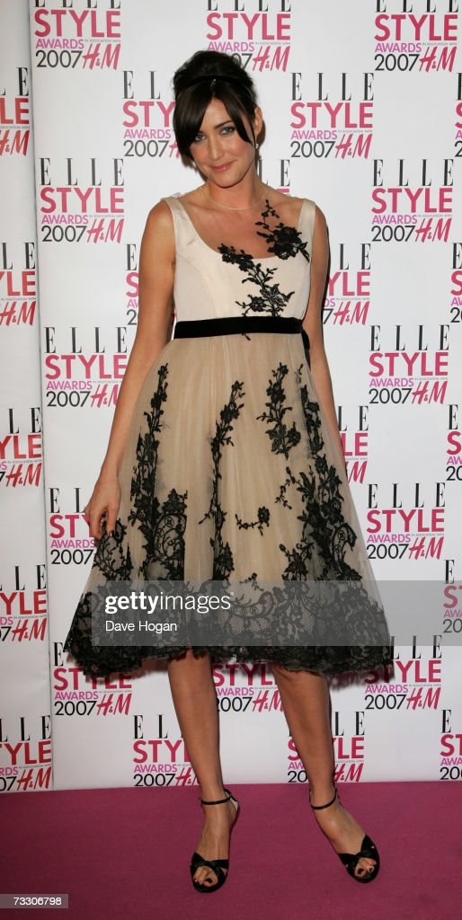 Lisa Snowdon arrives at the ELLE Style Awards at the Roundhouse Theatre February 12, 2007 in London, England.