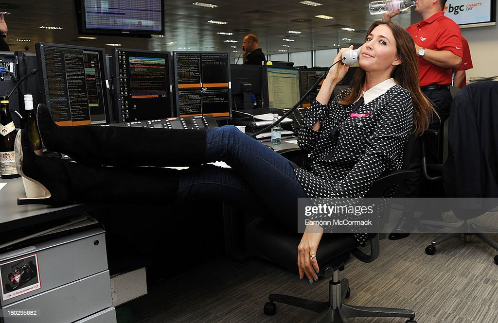 <a gi-track='captionPersonalityLinkClicked' href=/galleries/search?phrase=Lisa+Snowdon&family=editorial&specificpeople=204613 ng-click='$event.stopPropagation()'>Lisa Snowdon</a> attends the BGC Partners charity day at Canary Wharf on September 11, 2013 in London, England.