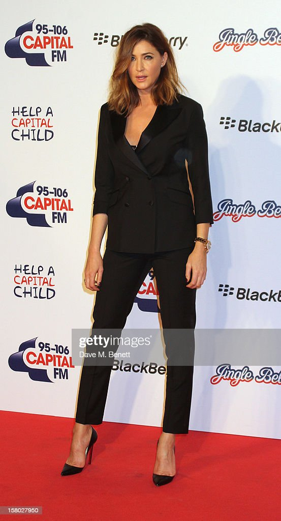 Lisa Snowdon attends the Capital FM Jingle Bell Ball at 02 Arena on December 9, 2012 in London, England.