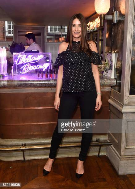 Lisa Snowdon attends the VIP dinner to celebrate Urban Decay's arrival at Selfridges London on April 24 2017 in London England
