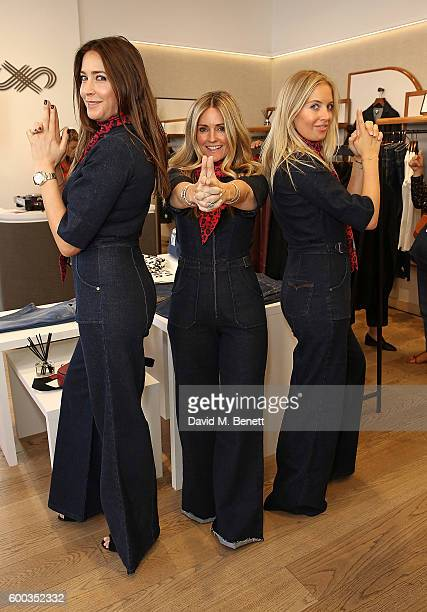 Lisa Snowdon Donna Ida and Marissa Montgomery attend the launch event for the Donna Ida for Jaeger collaboration collection on September 8 2016 in...