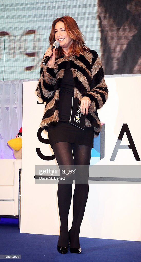 Lisa Snowdon hosts the Samsung Smart TV Angry Birds Party at Westfield Stratford City on December 13, 2012 in London, England.