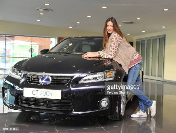Lisa Snowdon picks up her new Lexus from Jemca Car Group on November 17 2011 in London England