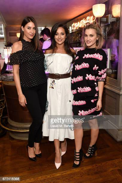 Lisa Snowdon Roxie Nafousi and Ashley Roberts attend the VIP dinner to celebrate Urban Decay's arrival at Selfridges London on April 24 2017 in...