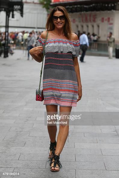 Lisa Snowdon seen leaving Capital Radio on July 2 2015 in London England