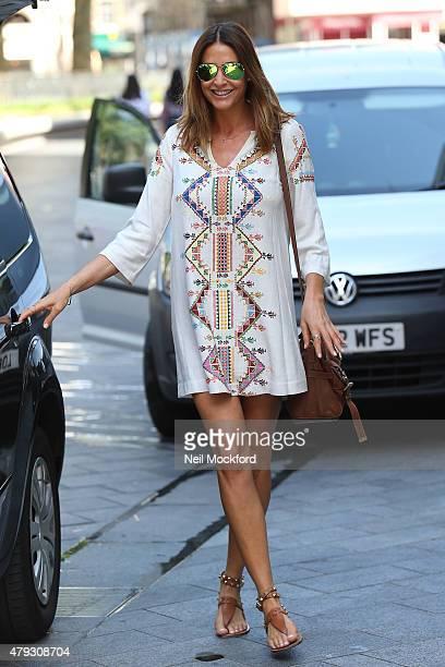 Lisa Snowdon seen leaving Capital Radio on July 3 2015 in London England