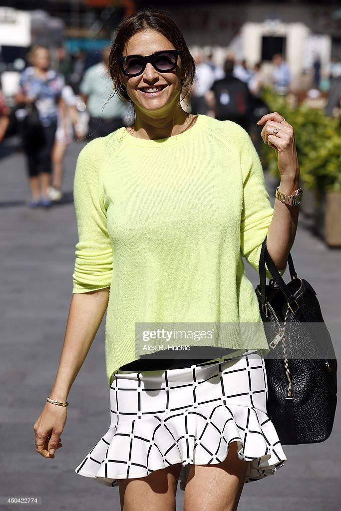 <a gi-track='captionPersonalityLinkClicked' href=/galleries/search?phrase=Lisa+Snowdon&family=editorial&specificpeople=204613 ng-click='$event.stopPropagation()'>Lisa Snowdon</a> seen leaving the Capital FM Studios in Leicester Square, on Jun 11, 2014 in London, England.