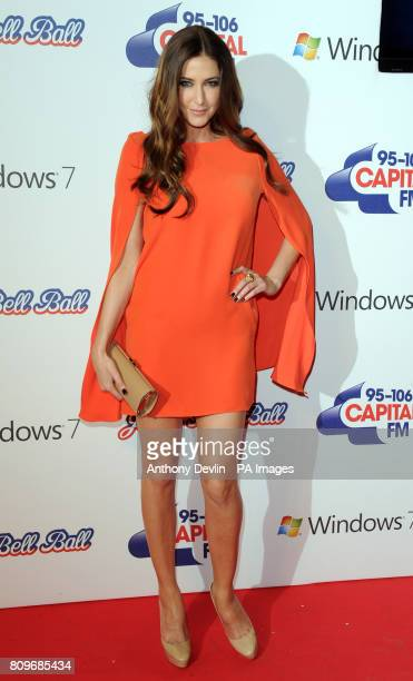 Lisa Snowdown poses backstage during the Capital FM Jingle Bell Ball at the 02 Arena London
