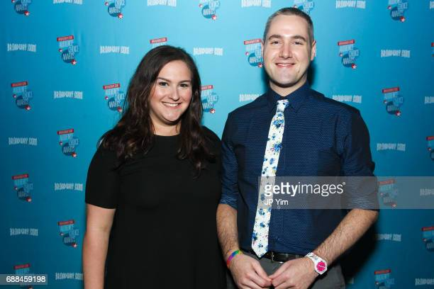 Lisa Spychala and Ryan Lee Gilbert attend the 17th Annual Broadwaycom Audience Choice Awards at 48 Lounge on May 25 2017 in New York City