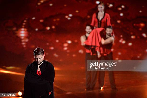 Lisa Steiner and Felix von Jascheroff do the Paso Doble attending the 4th live show of the television competition 'Stepping Out' on October 2 2015 in...