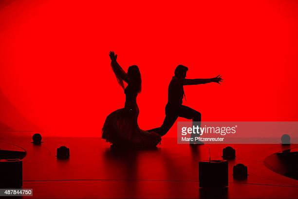 Lisa Steiner and Felix von Jascheroff perform onstage during the first show of the television competition 'Stepping Out' on September 11 2015 in...