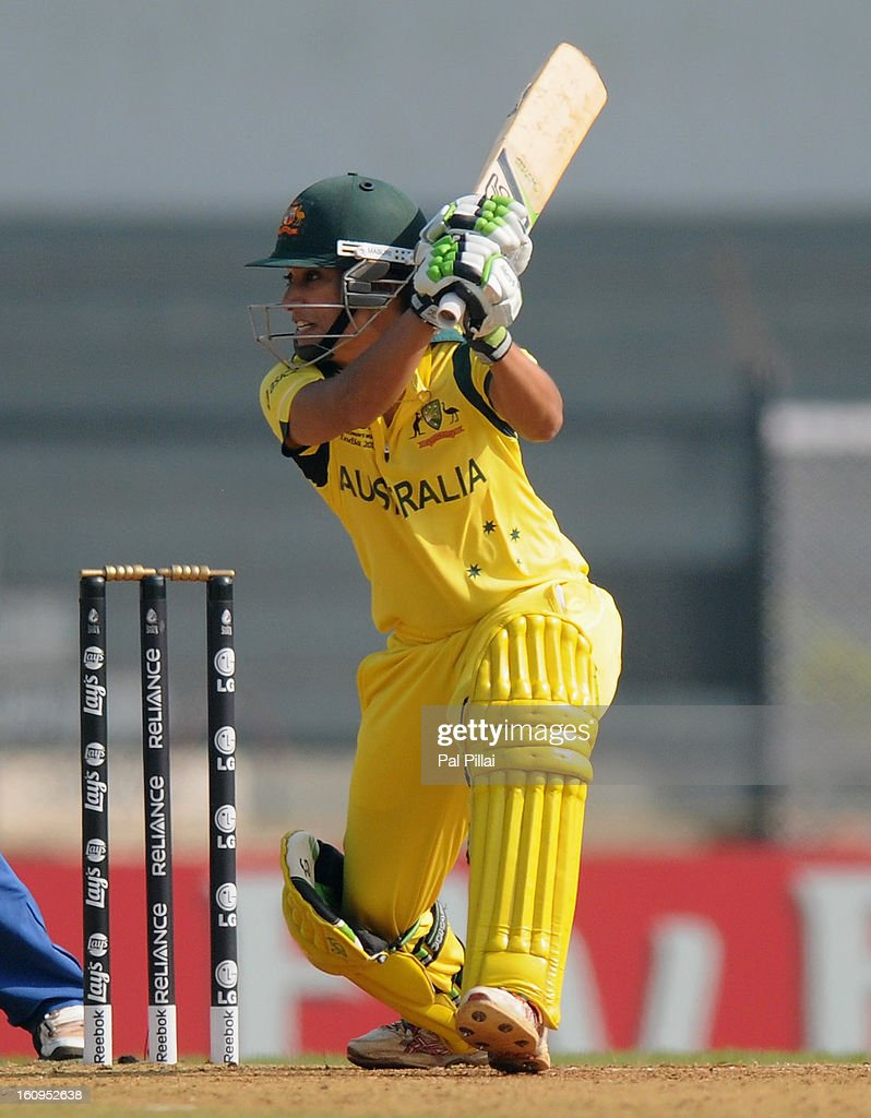 Lisa Sthalekar of Australia bats during the super six match between England and Australia held at the CCI (Cricket Club of India) on February 8, 2013 in Mumbai, India.