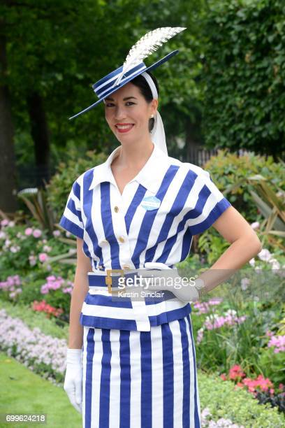 Lisa Tan attends day 3 of Royal Ascot at Ascot Racecourse on June 22 2017 in Ascot England