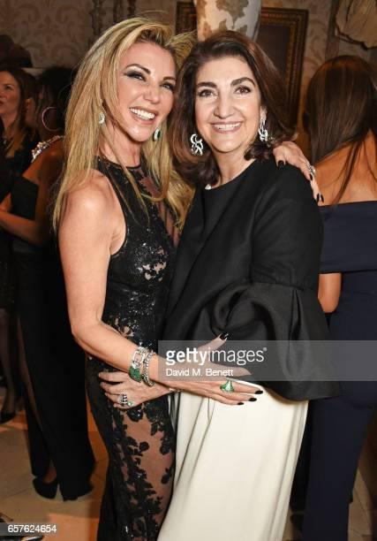 Lisa Tchenguiz and Fatima Maleki attend Lisa Tchenguiz's party hosted by Fatima Maleki in Mayfair on March 24 2017 in London England