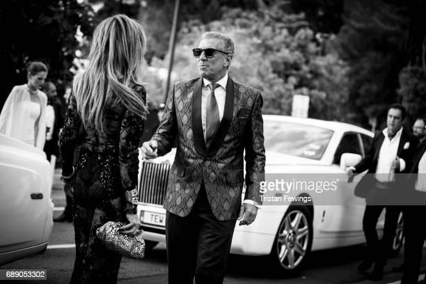 Lisa Tchenguiz and Steve Varsano arrive at the amfAR Gala Cannes 2017 at Hotel du CapEdenRoc on May 25 2017 in Cap d'Antibes France