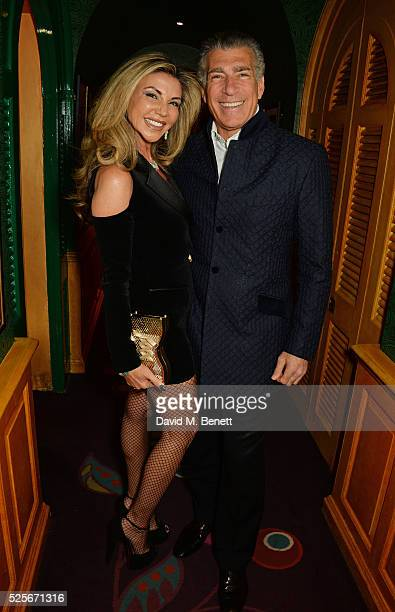 Lisa Tchenguiz and Steve Varsano attend a private dinner hosted by Fawaz Gruosi founder of de Grisogono at Annabels on April 28 2016 in London England