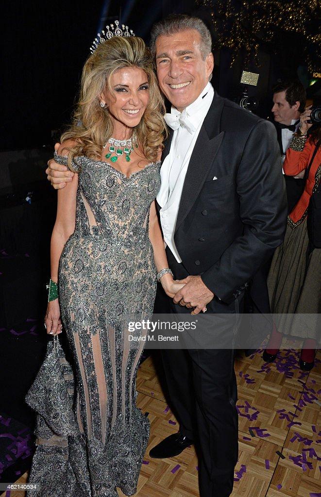 Lisa Tchenguiz and Steve Varsano attend Lisa Tchenguiz's 50th birthday party at the Troxy on January 24 2015 in London England