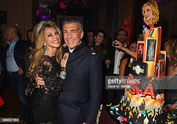 Lisa Tchenguiz and Steve Varsano attend Lisa Tchenguiz's birthday party on January 23 2016 in London England