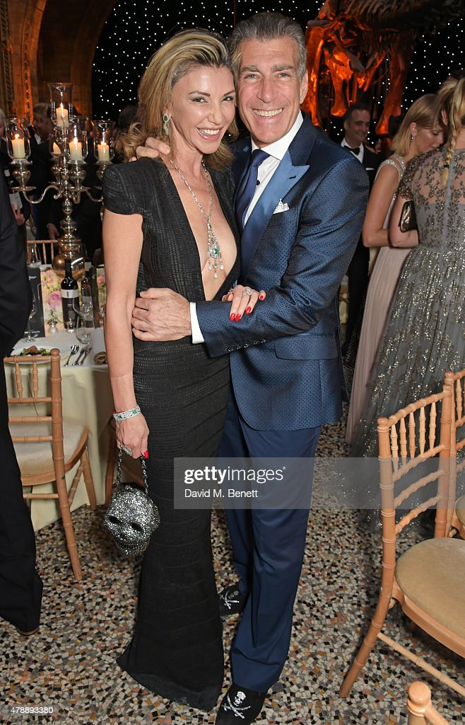 Lisa Tchenguiz (L) and Steve Varsano attend the 2015 FIA Formula E Visa London ePrix Gala Dinner at the Natural History Museum on June 28, 2015 in London, England.