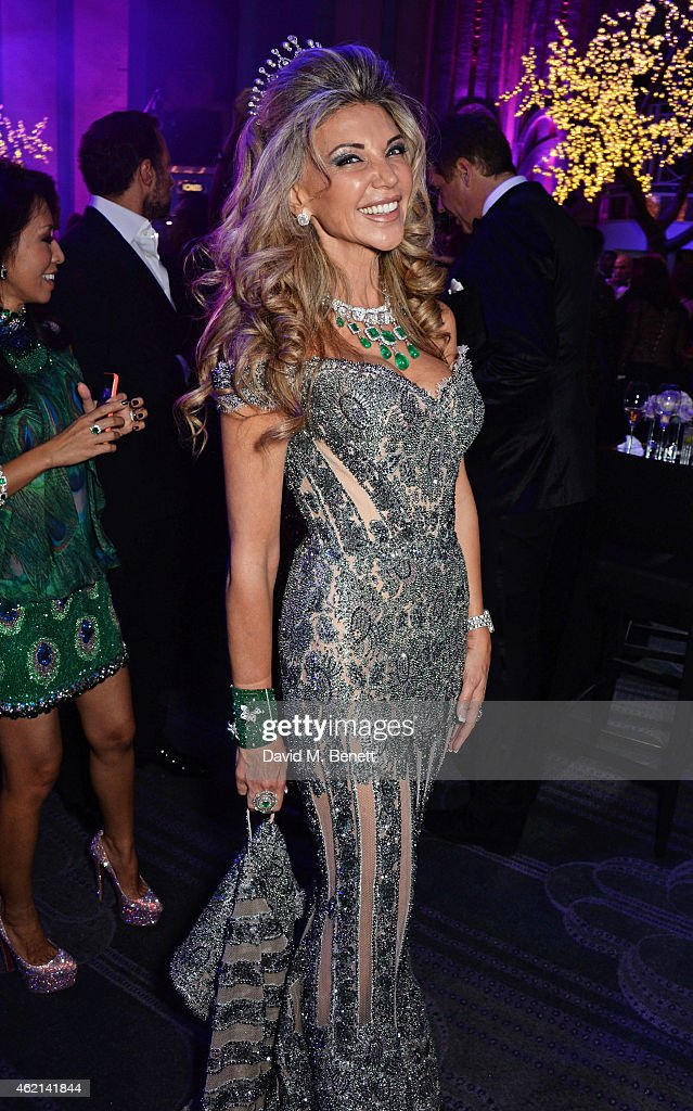 Lisa Tchenguiz attends her 50th birthday party at the Troxy on January 24 2015 in London England