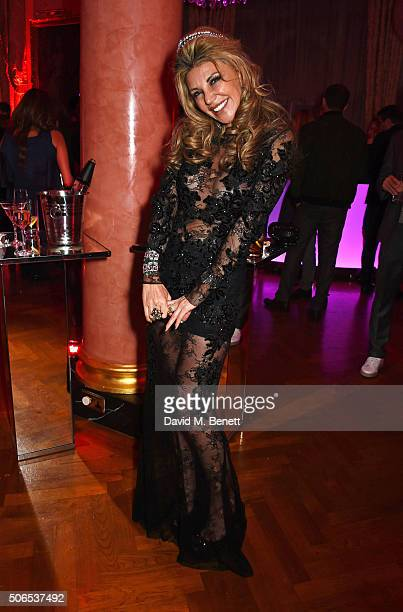 Lisa Tchenguiz attends her birthday party on January 23 2016 in London England
